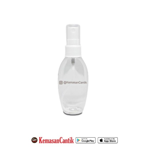 BOTOL PET 50 CC OVAL TUTUP SPRAY 20